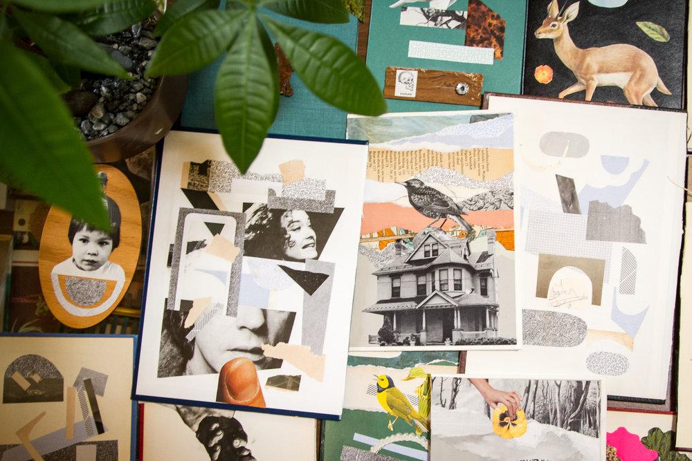 Ryan Wyrick's collage work.