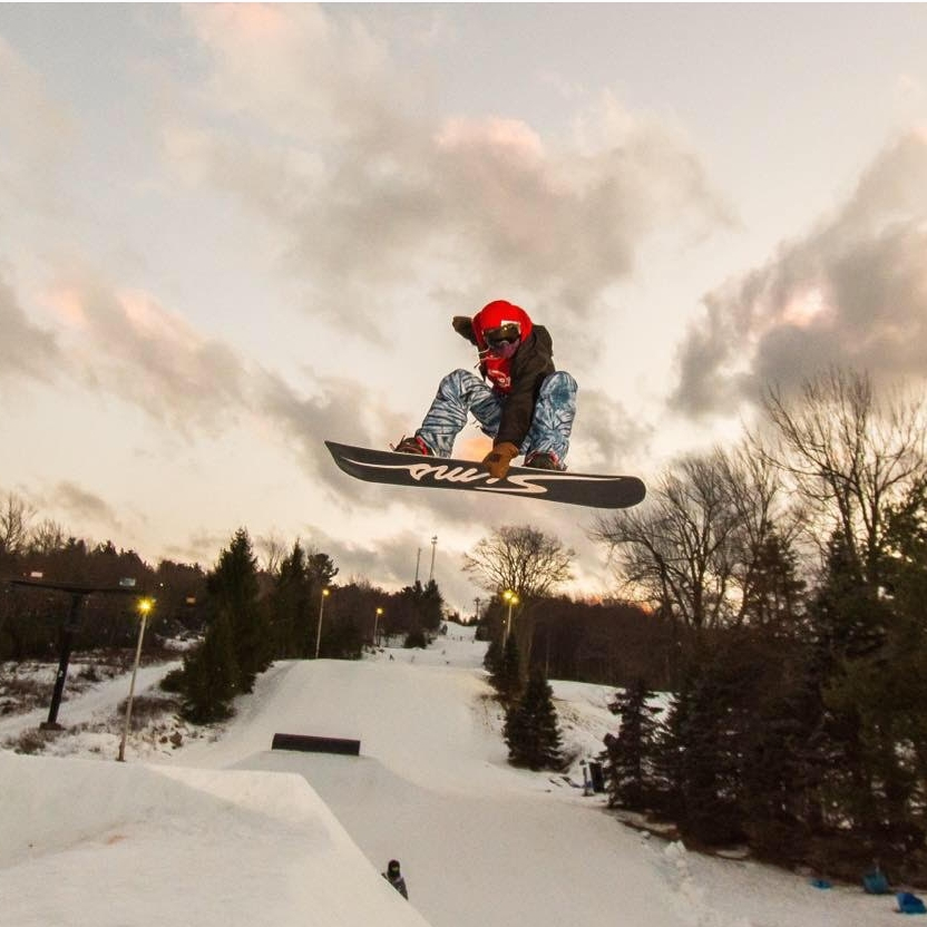 Mike Sears  - Mike was our very first Carve for Cancer team athlete. This east coast shredder has connected with our cause since day one, and actually won our first rail jam. His sponsors include: Sims Snowboards, Technine, Zeal Optics, Shred Soles, Baf Wax, Big Boulder PARK