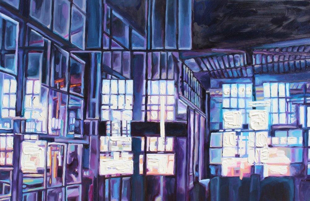 "Metropolitan #4, 24x36"" oil on panel, 2015"