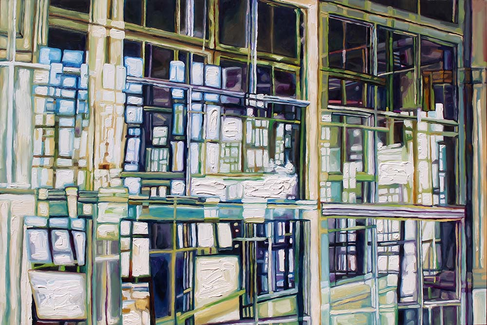 "Metropolitan #1, 24x36"" oil on panel, 2015"