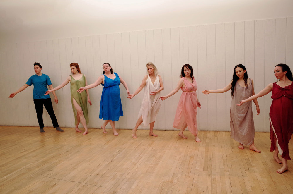 The Isadora Duncan International Institute dancers, currently in residency at the 92Y's Harkness Dance Center, Flatiron