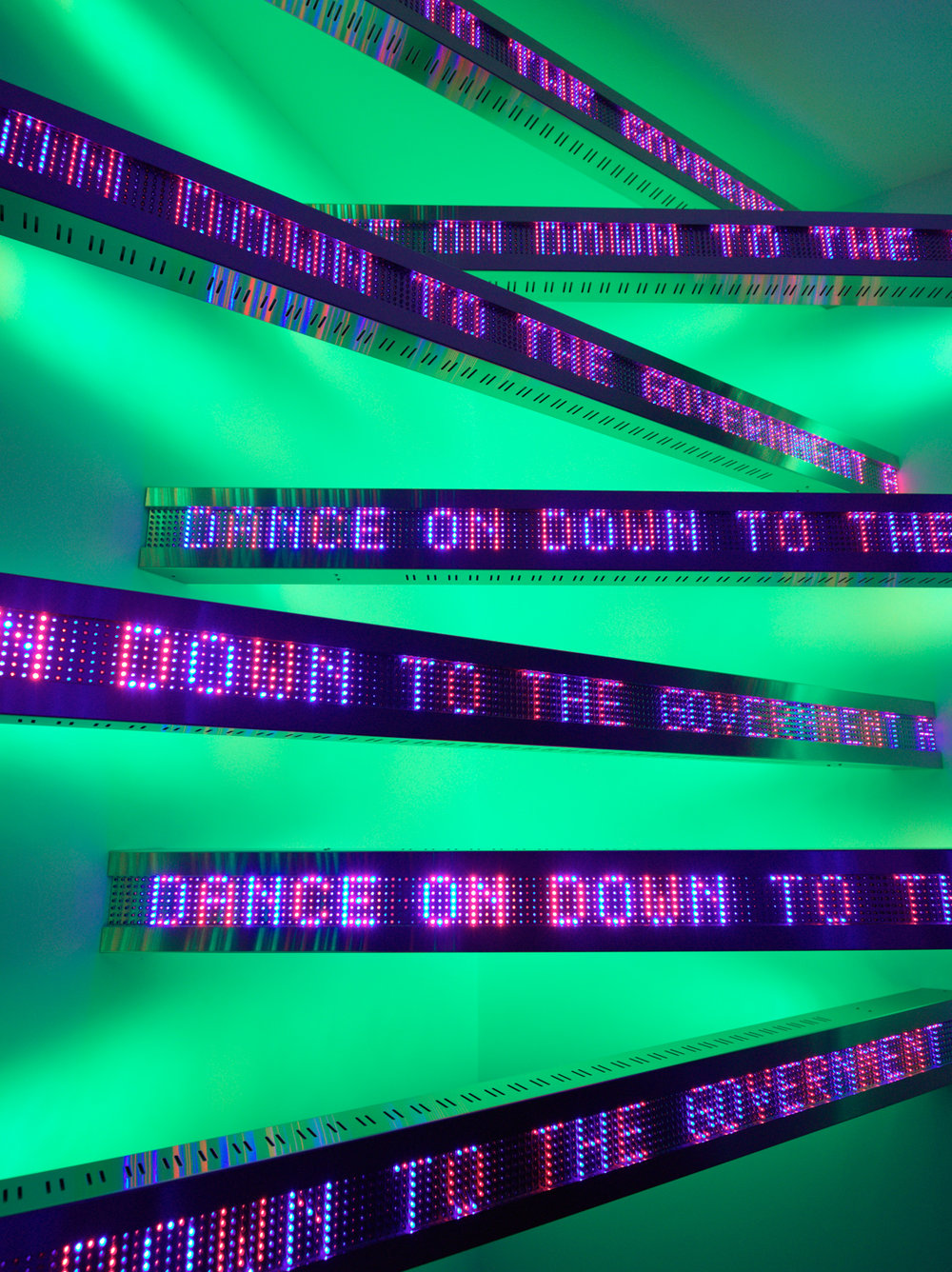 Jenny Holzer,  New Corner , 2011 (detail). © 2011 Jenny Holzer, member Artists Rights Society (ARS), NY Photo: Sang Tae Kim. Courtesy of the artist.