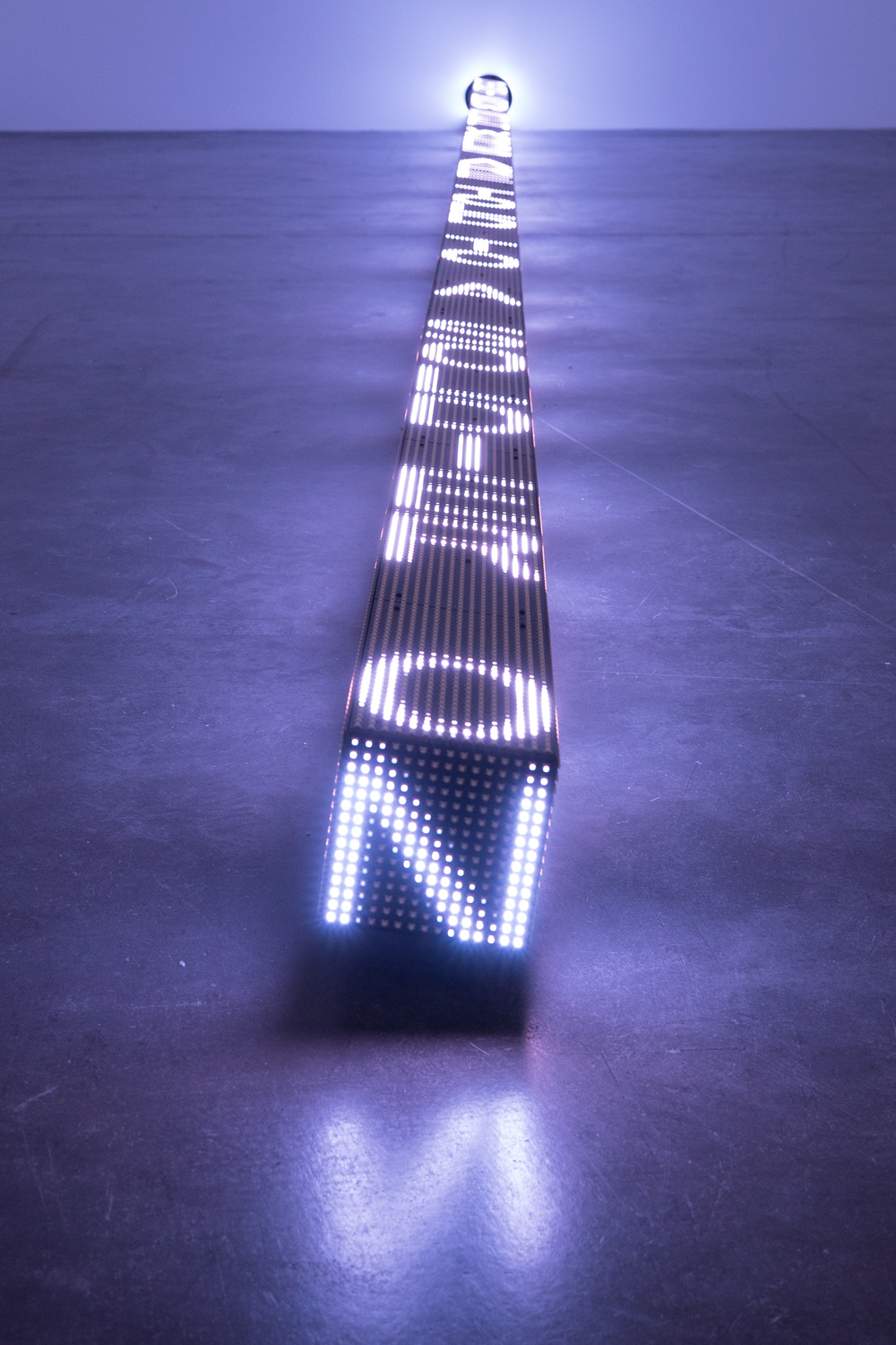 Jenny Holzer,  Ram , 2016. © 2016 Jenny Holzer, member Artists Rights Society (ARS), NY Photo: Collin LaFleche. Courtesy of the artist.