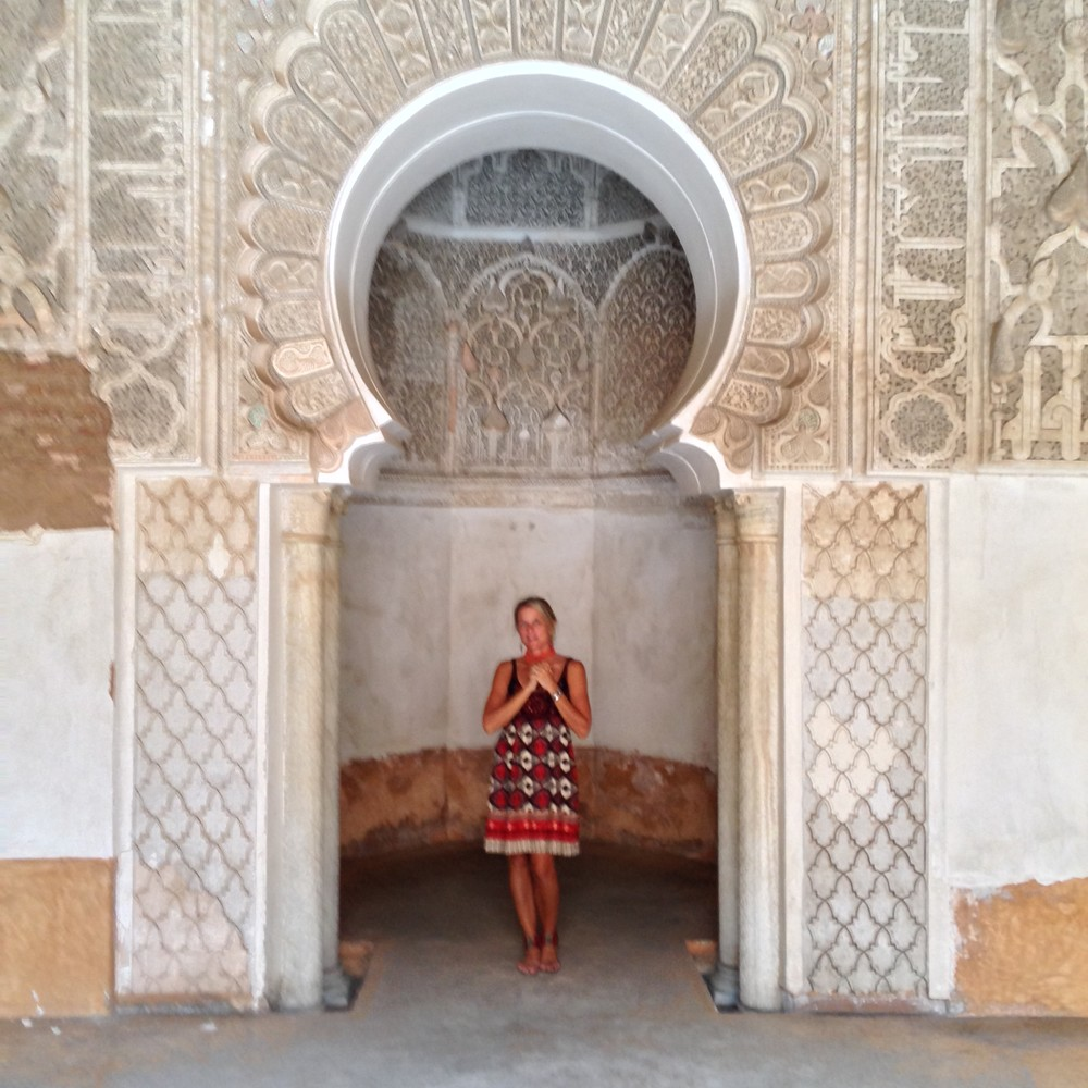 Me visiting an ancient school in Marrakech, Morocco.