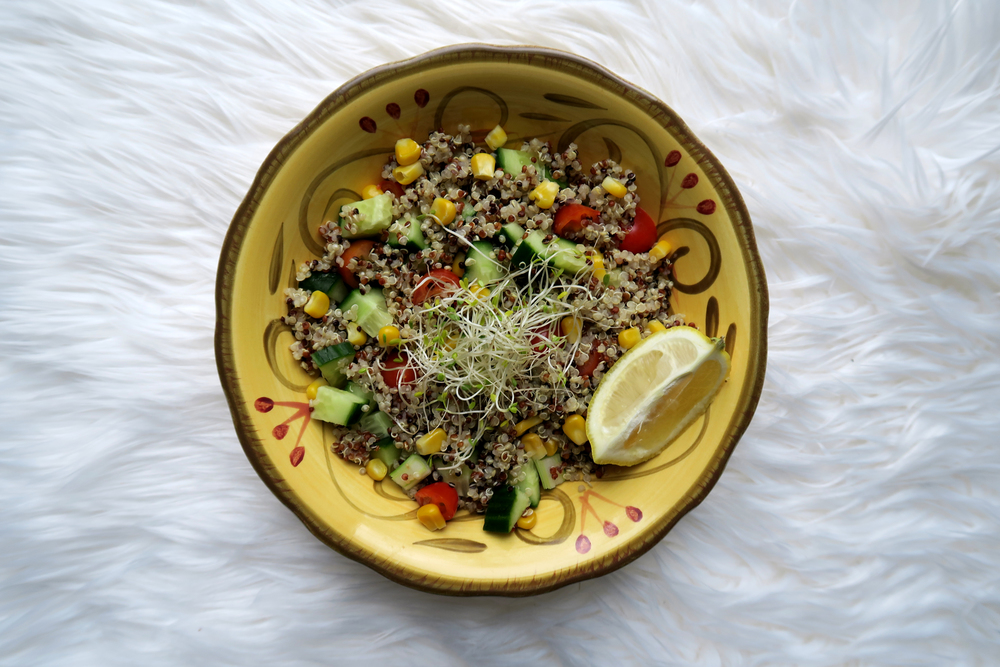 Quinoa Salad #Recipe // Click to read more, or re-pin for later! Hollandlanemag.com