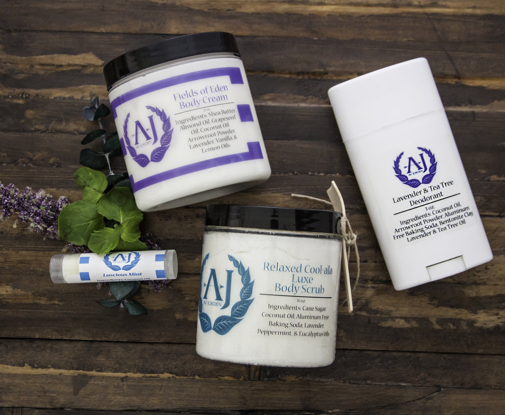 Av Jorden, all natural skincare products made from scratch