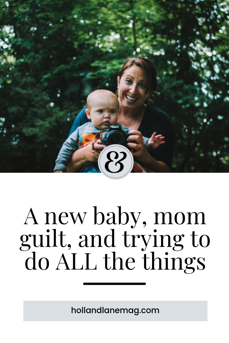 """I left my corporate job to stay home with my sons. But then day after day, I found it hard to function, to be a normal human being who could clean a house, or change out of her spit-up covered clothes. And I thought, """"I'm not cut out for this. I'm a terrible mom and wife."""" // Click to read more from Holl & Lane Magazine at hollandlanemag.com"""