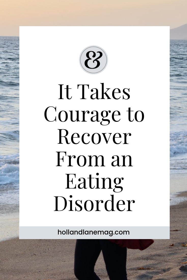 I surrendered to the process of recovery and listened to those who were trying to help me because I knew that continuing to listen to my eating disorder would kill me. / Click to read more from Holl & Lane at hollandlanemag.com #eatingdisorder #recovery #mentalhealth #selfcare