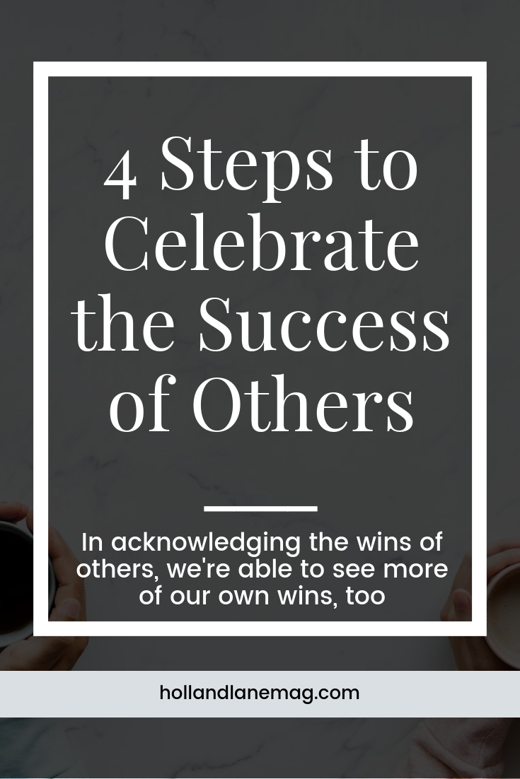 What if we pushed further and went out of our way to support the success of those around us? Click to read more at hollandlanemag.com
