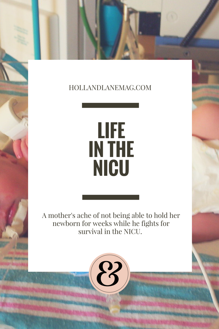 My husband and I sat in Maverick's NICU room for hours, days, and eventually weeks. We weren't allowed to hold him. Read more at hollandlanemag.com