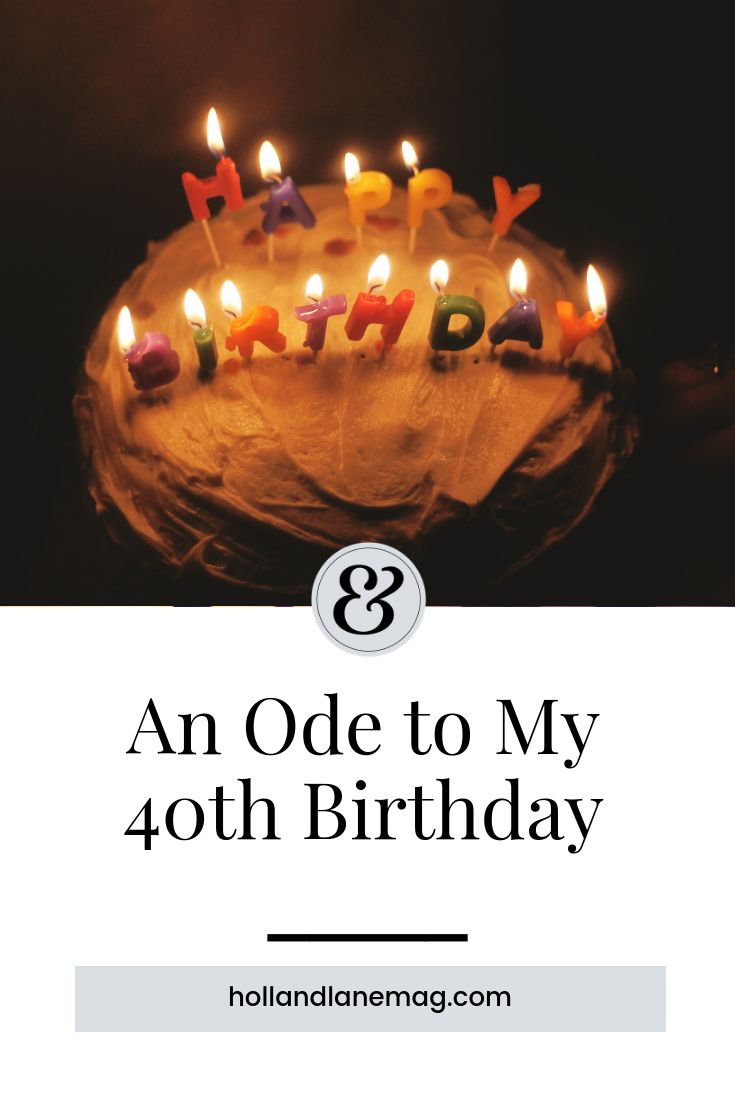 My reflections on this important milestone - and its effects on my body. Read more at hollandlanemag.com