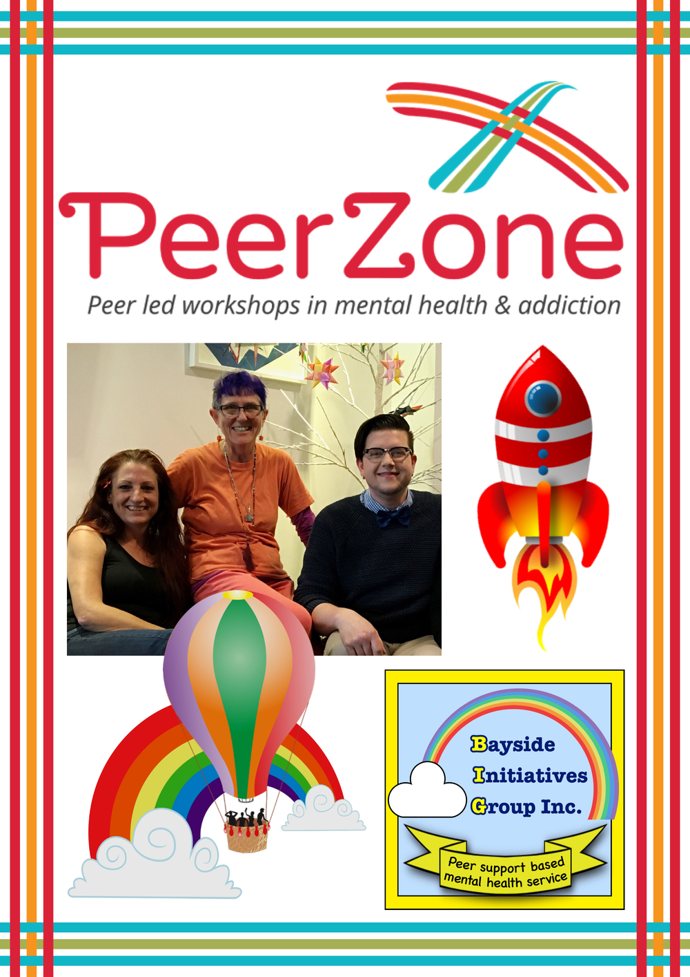 Peer Zone at BIG - Peer-led workshops in mental health at Bayside Initiatives Group Inc. a unique peer support based mental health service catering to consumers in the Redlands and Bayside areas.