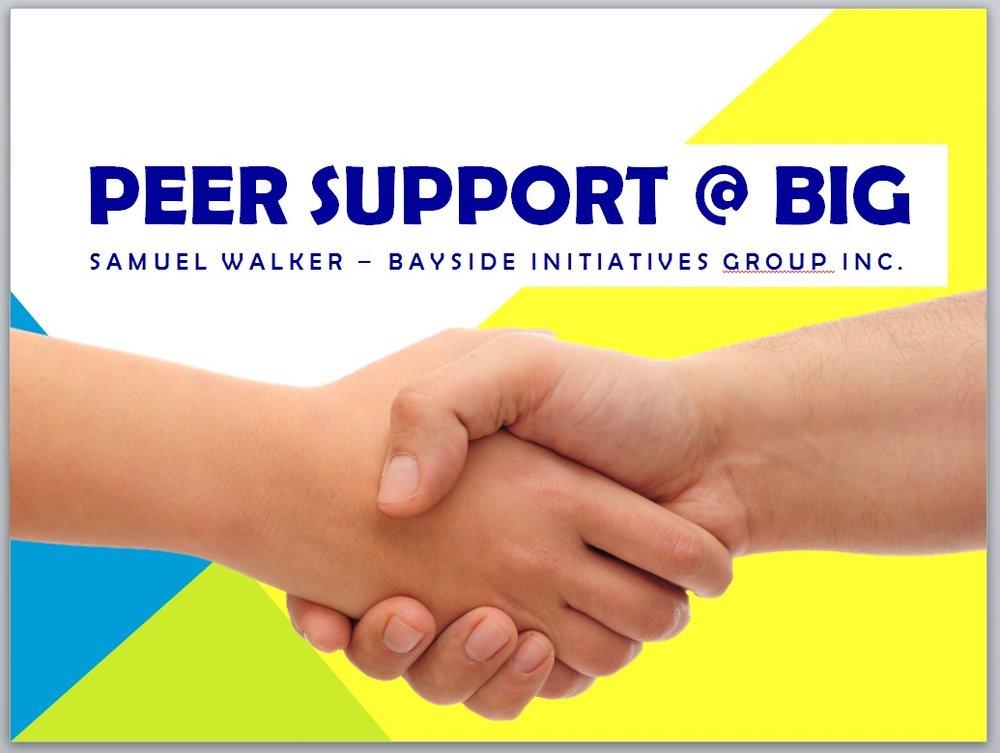 Peer Support @ BIG - Mental Health Professionals Network (MHPN) - Peer Work Presentation - February 9th 2017 - Samuel Walker