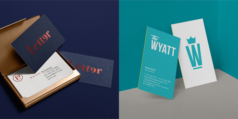 Letter9 and The Wyatt Business Cards