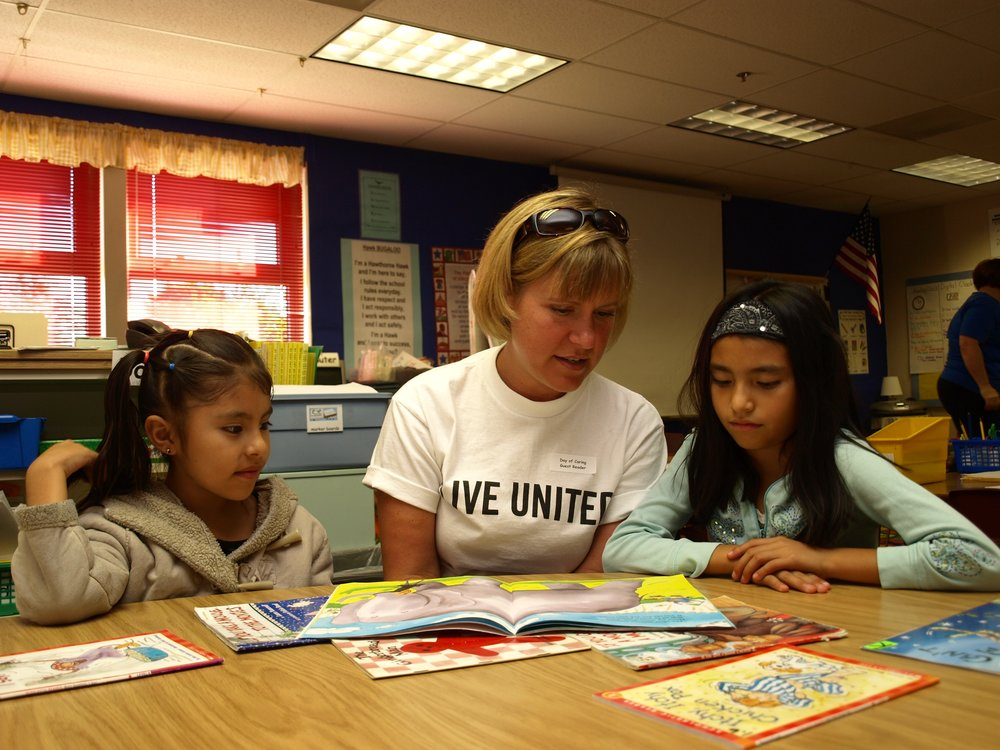 United Way Day of Caring - Reading to kids