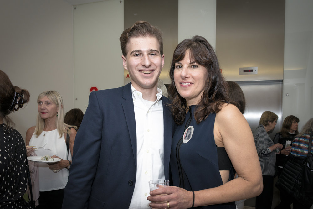 (L-R) Marisa Fox with her son Leo Bevilacqua