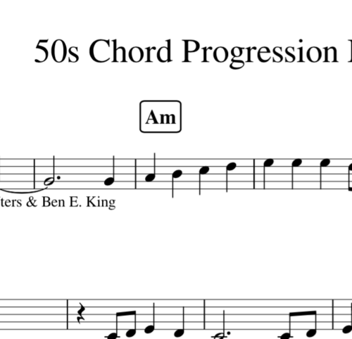 50s Chord Progression Melodies Veronicapiano88