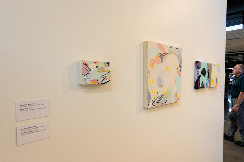 Paintings by Katelynn Noel Knick.  Spection  opening reception, August 3, 2018.  Photo credit: Thomas Shahan