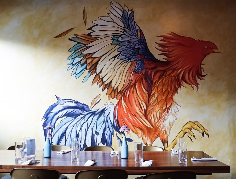 The beautiful hand painted walls at Platito make for instagrammable photos.