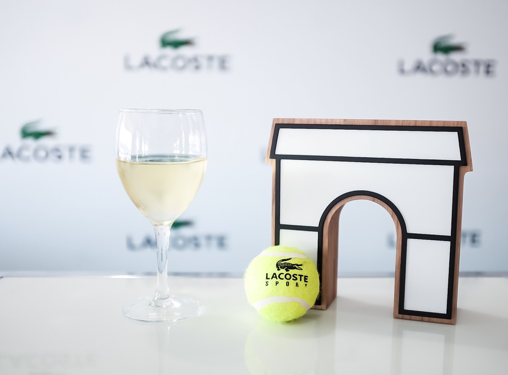 Chilling in the Lacoste Suite and enjoying two fantastic tennis matches.