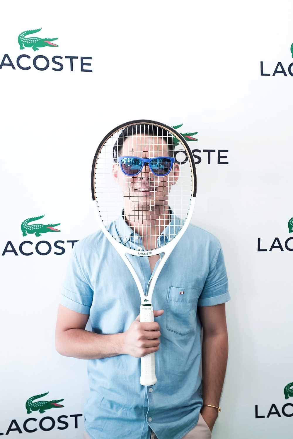 The cool magnetic sunglasses from Lacoste.
