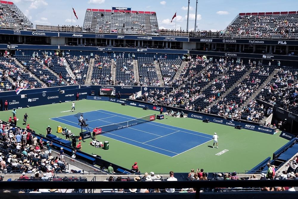Tennis giant Novak Djokovic VS Gilles Muller.