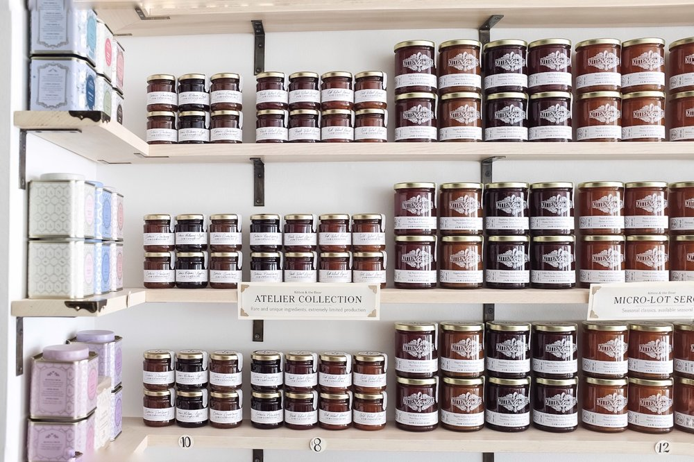 An assortment of the KATB jams are available at all times at the store. Stock up on your favourites because they change each time depending on fruit availability.