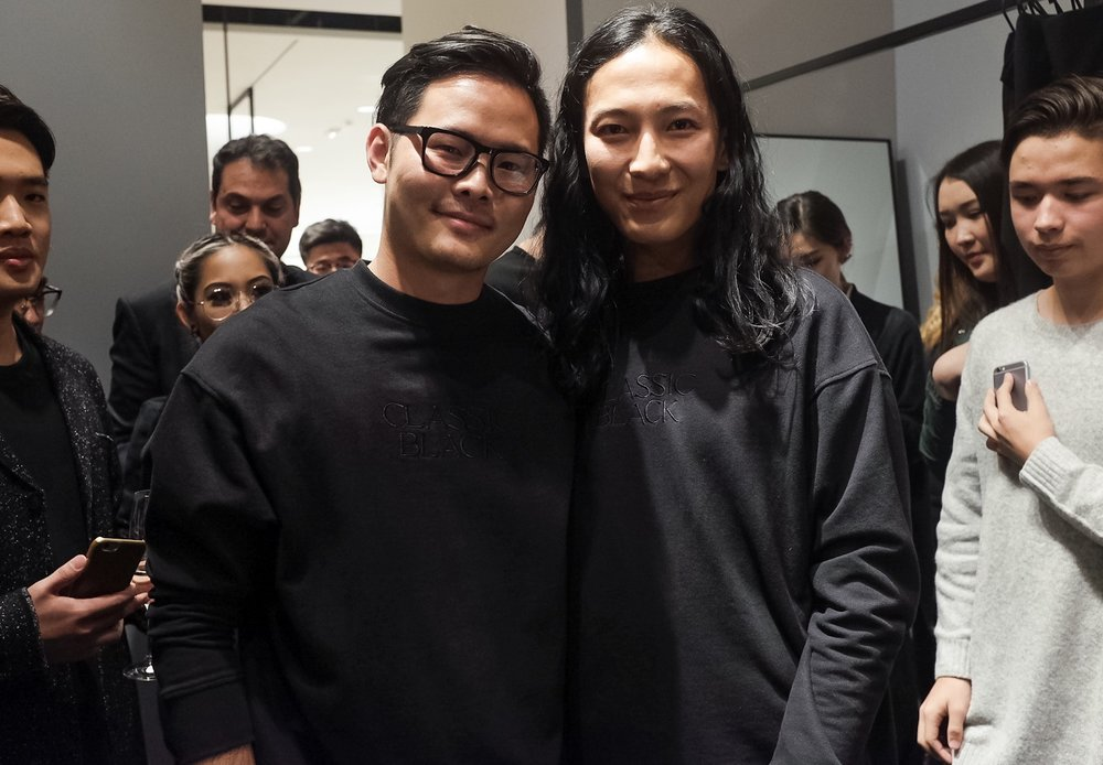 That moment when you are twining with Alexander Wang.