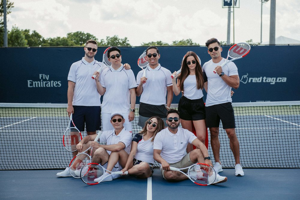 Squad group photo toronto fashion menswear peroni rogers cup