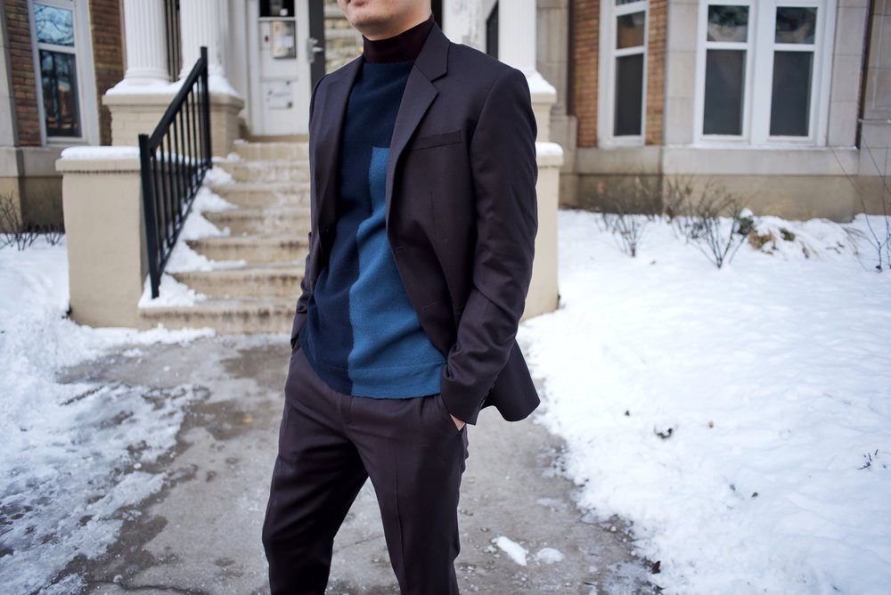 cos, outfit, menswear, toronto, holiday look