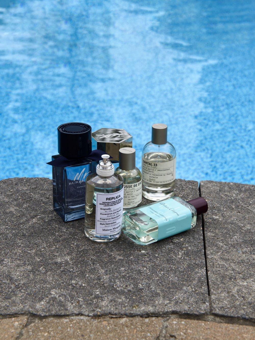 men fragrances YSL Le Labo Atelier cologne Burberry margiela