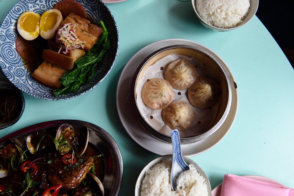 soso food club flatlay food