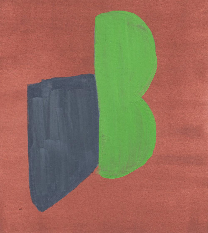84 Gouache on watercolor paper