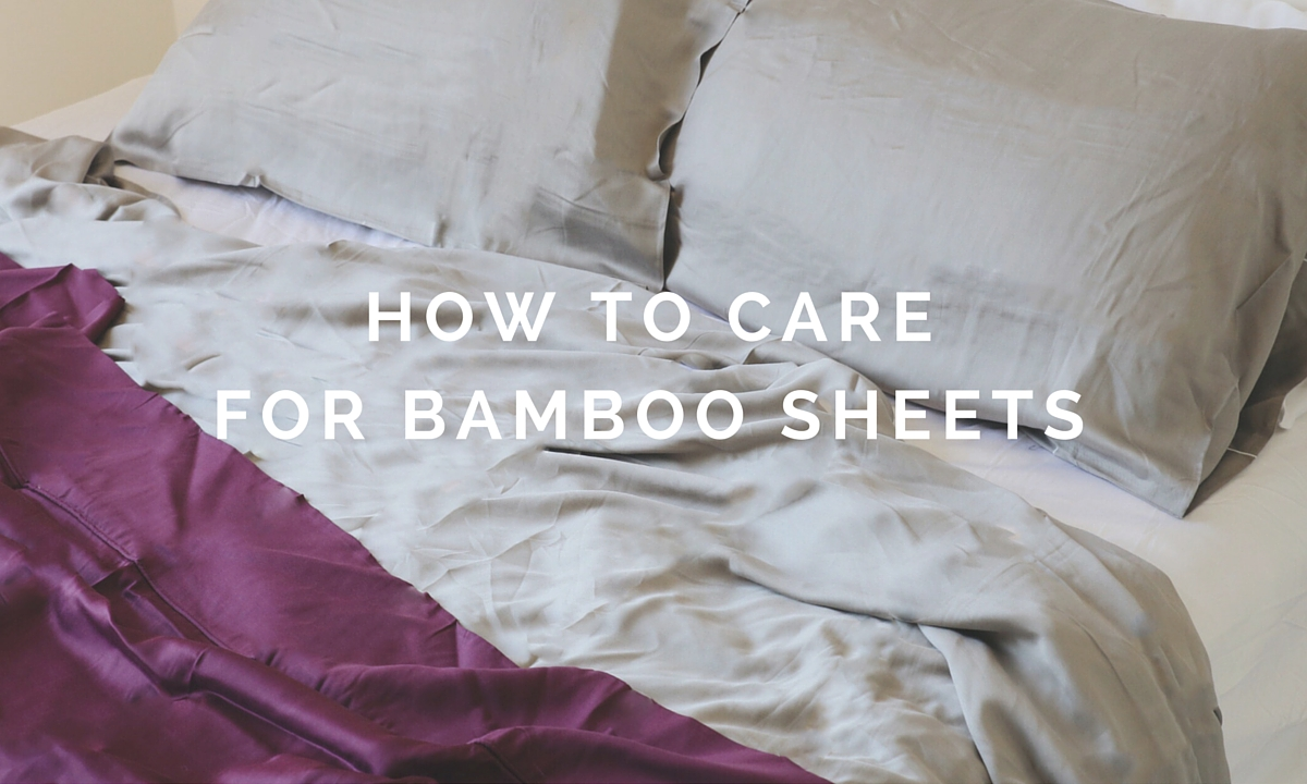 Vintage ETTITUDE how to care for bamboo sheets