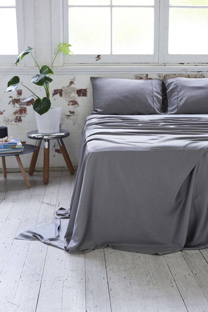 Bamboo Charcoal Sheet Set in Dove Grey