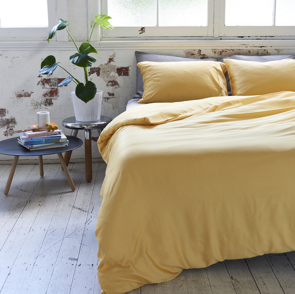 Bamboo Charcoal Sheet Set in Mustard