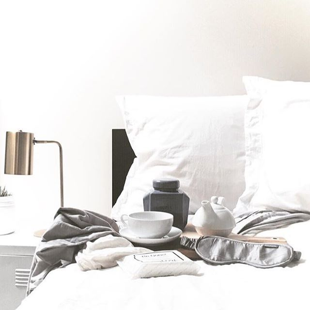 Clean sheets and an eye mask for more quality shut-eye. #sleepwithettitude via @nictatt