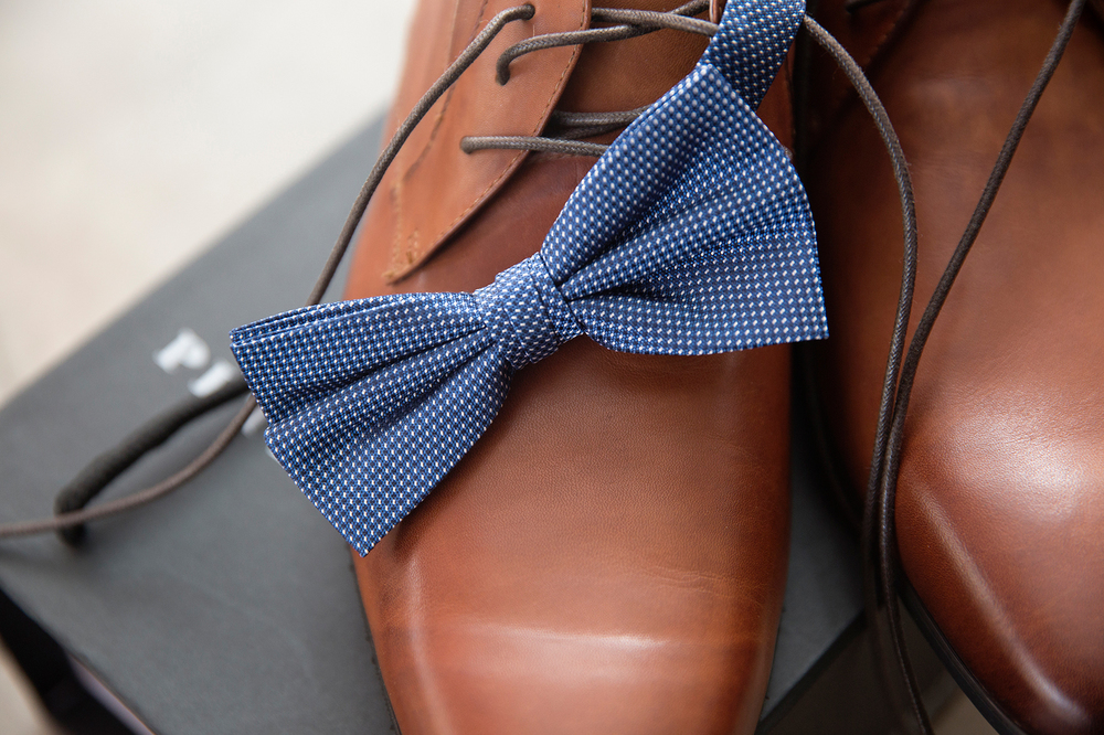 shoe and bowtie