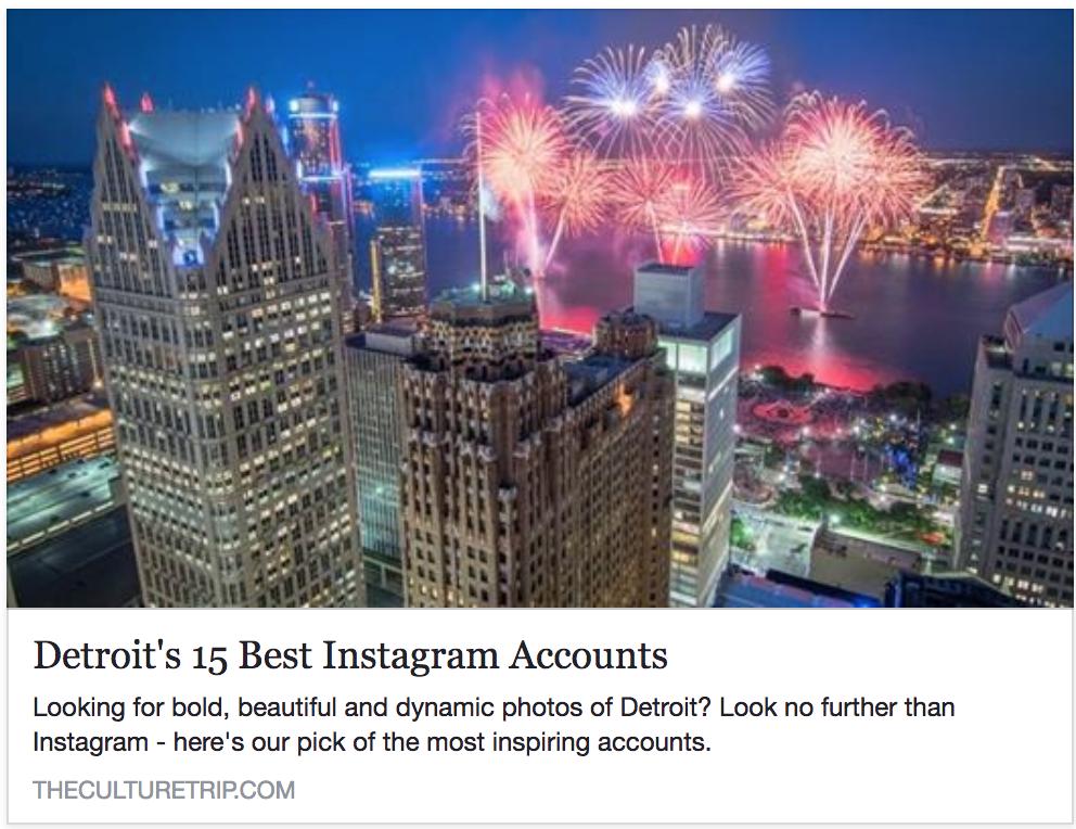 Culture Trip: Detroit's 15 Best Instagram Accounts of 2018 -