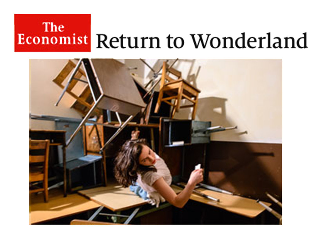 """The Economist     Review   September 23, 2014  Return to Wonderland   """" Then She Fell  does what the best retellings set out to do: it offers a new framework through which to contemplate a familiar story."""""""