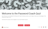 Click to start the Coach's Quiz