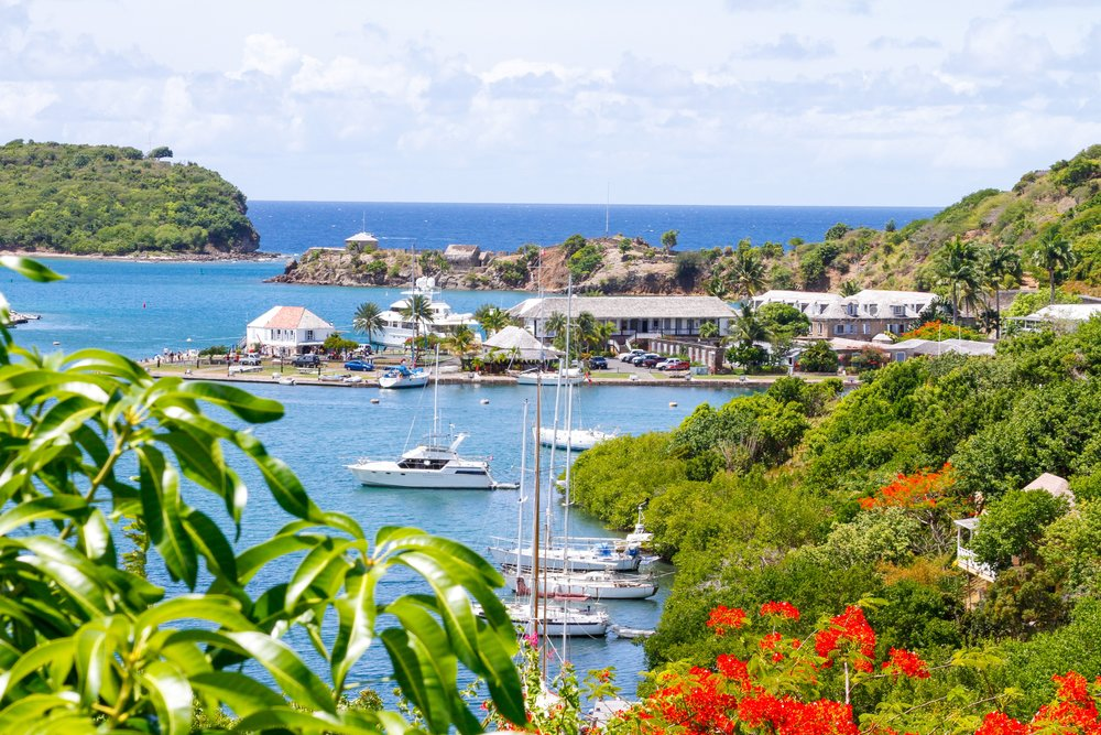 Beautiful View from Ocean's Inn Hotel - picture provided by Antigua & Barbuda tourist board