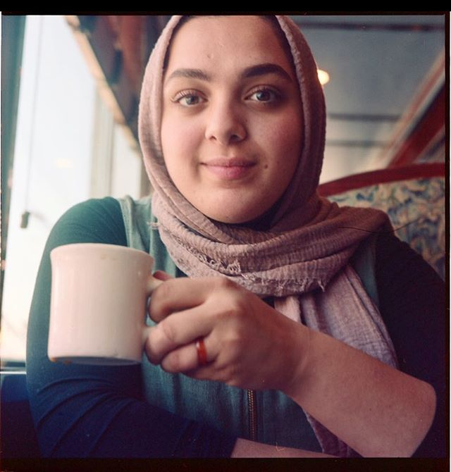 Miss Masoud on her last day in the states before her adventures in the Middle East #120mm #portra400 #mamiyac330