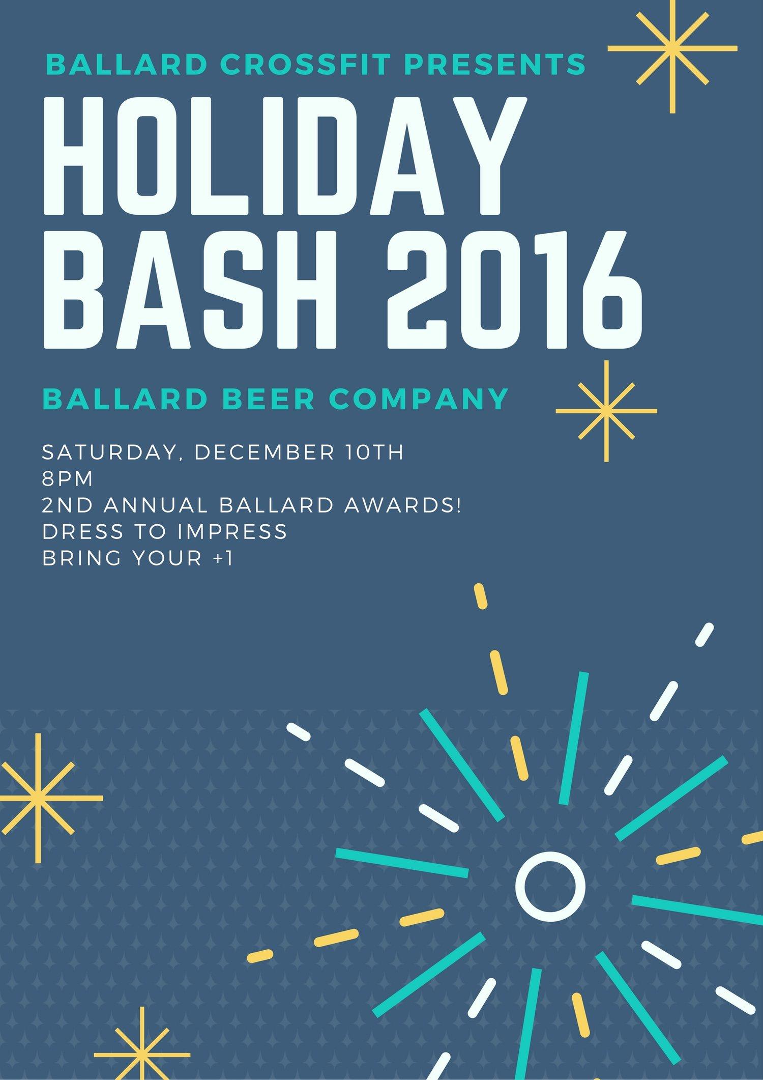 2016 holiday bash! — ballard crossfit