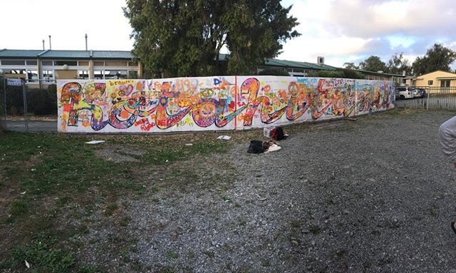 Collective mural with #Kophie #Chchstreetart #Phillipstowncommunityhub