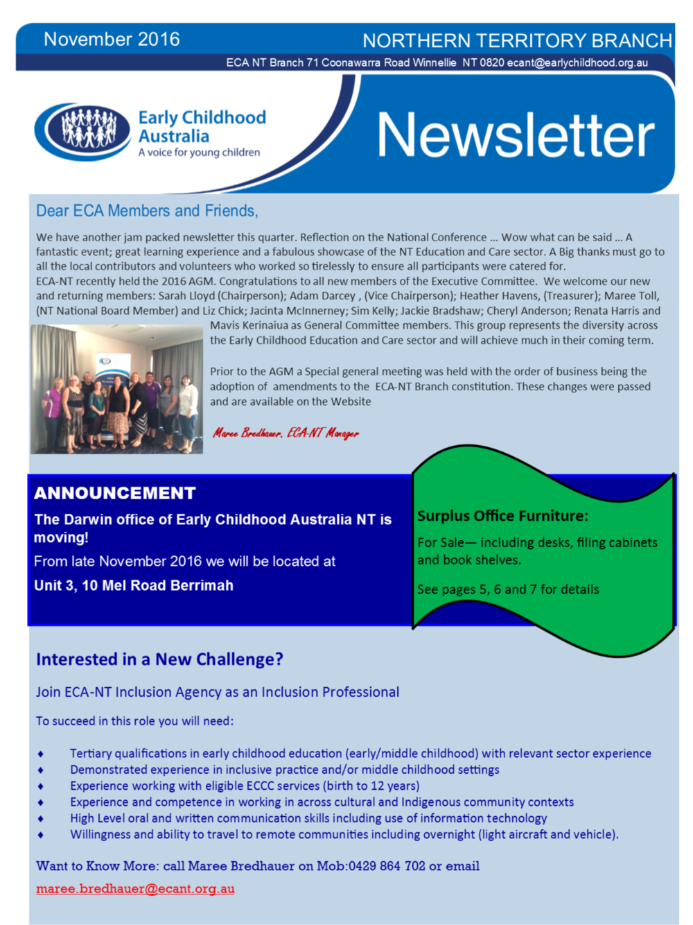 Northern Territory Inclusion Agency-     August Newsletter 2016