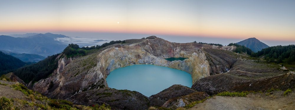 Sunset over Kelimutu