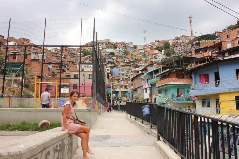 Carly in Medellin, Colombia. Photo: Curly Bird Travel