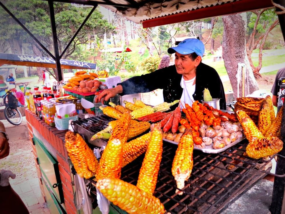 Street food in Colombia. Photo: Practical Wanderlust