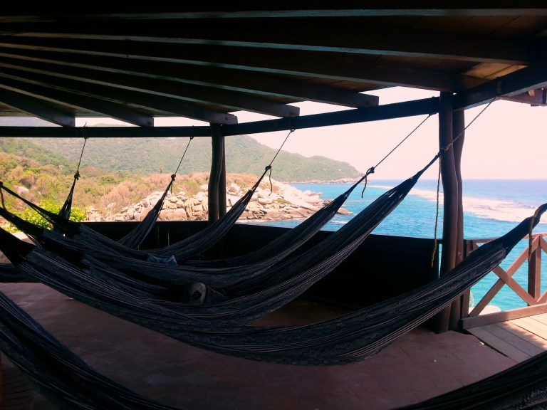 Hammocks with the best view, Tayrona National Park, Colombia. Photo: Tales of a backpacker.